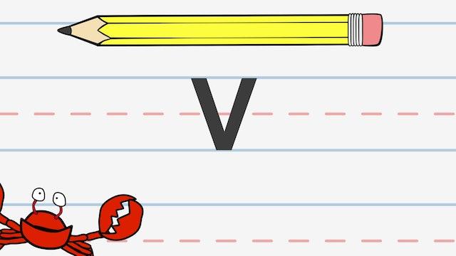 Write the Letter V