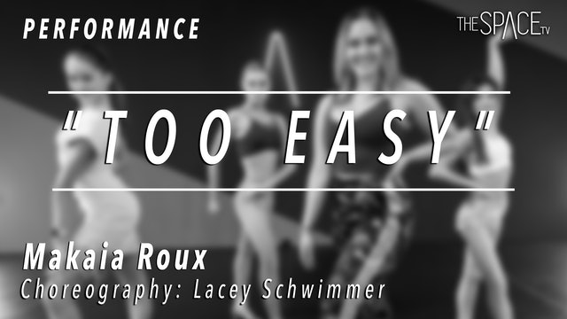 """PERFORMANCE: Makaia Roux / Ballroom Rumba """"Too Easy"""" by Lacey Schwimmer"""