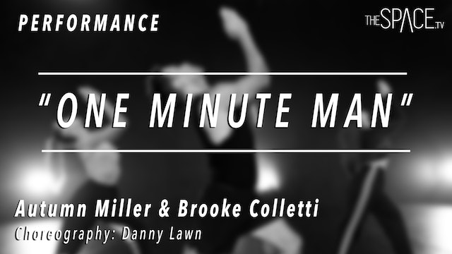 """PERFORMANCE: Autumn and Brooke / Jazz """"One Minute Man"""" by Danny Lawn"""
