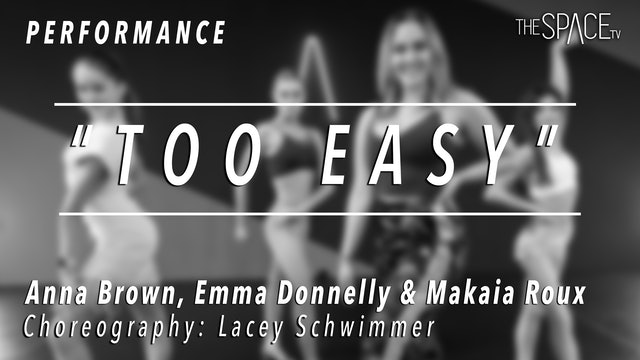 """PERFORMANCE: Anna, Emma & Makaia / Ballroom Rumba """"Too Easy"""" by Lacey Schwimmer"""
