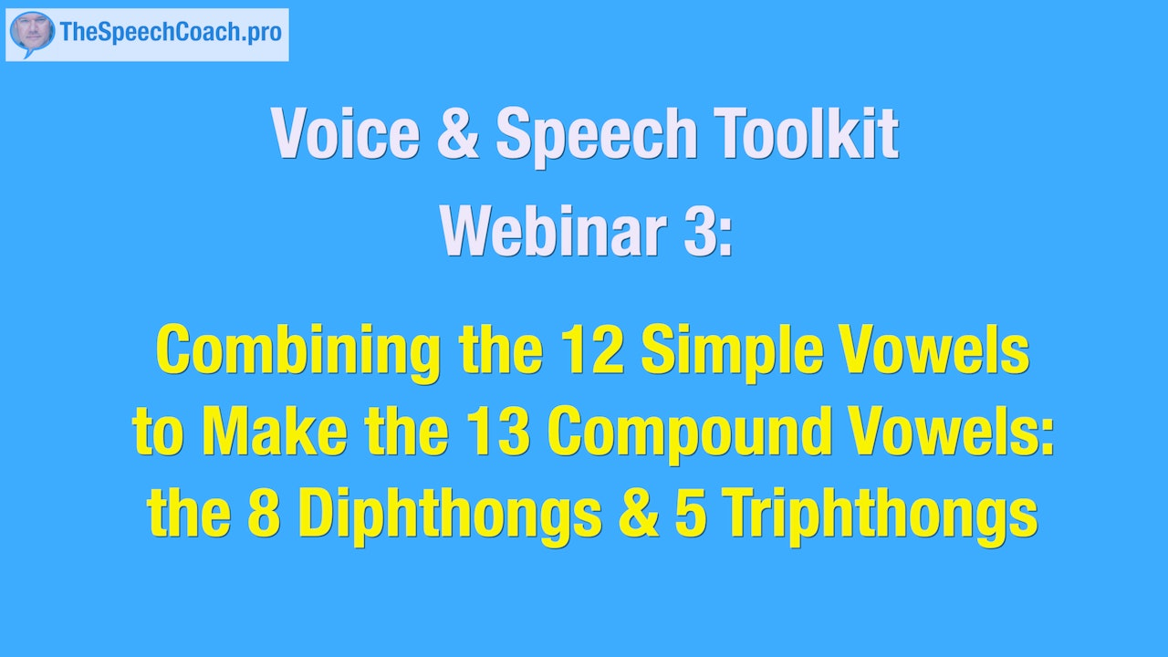 3: The 13 Compound Vowels: 8 Diphthongs, 5 Triphthongs