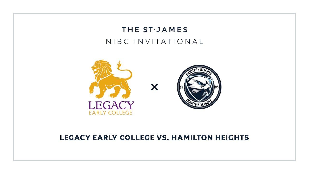NIBC – Legacy v. Hamilton Heights – 1/9 3:30pm ET
