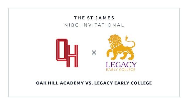 NIBC – Oak Hill v. Legacy Early – 1/8 7:00pm ET