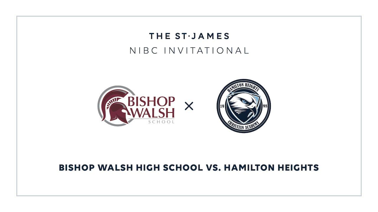 NIBC - Bishop Walsh v. Hamilton – 1/15 1:45pm ET