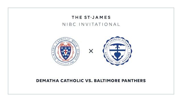 NIBC - DeMatha v. Bmore Panthers – 1/18 9:00am ET