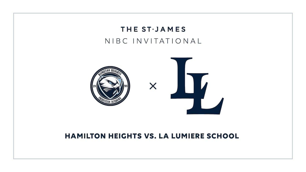 NIBC - Hamilton v. La Lumiere – 1/12 7:00pm ET