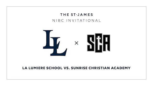 NIBC - La Lumiere v. Sunrise – 1/15 5:15pm ET