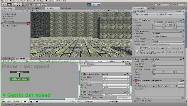 05 Triggering animations using Mecanim parameters