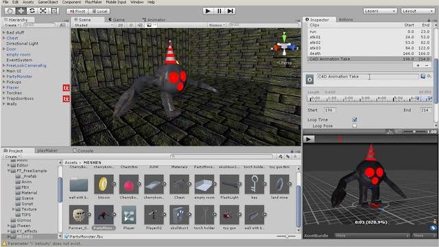 18 Enemy animation and navmesh setup