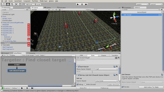 Bonus 04- Auto targeting system using Playmaker add-on Arraymaker
