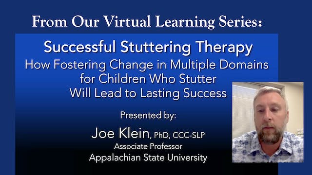 Successful Stuttering Therapy