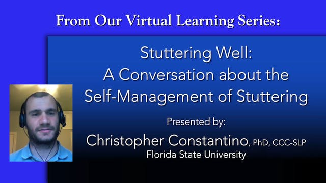 The Self-Management of Stuttering