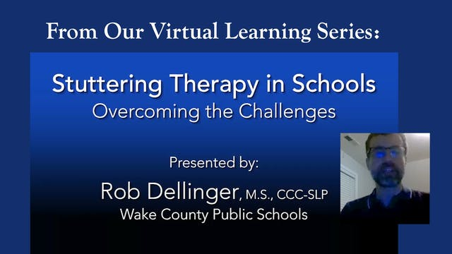 Stuttering Therapy in Schools