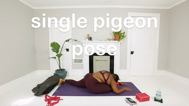 single pigeon pose