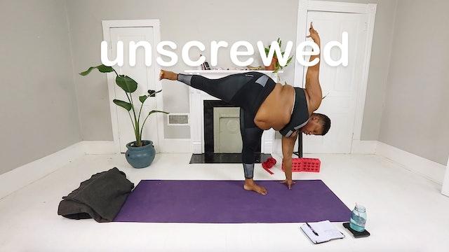 16. unscrewed