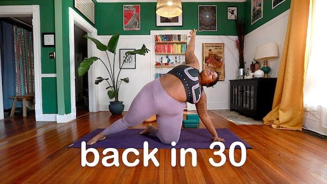 3. back in 30