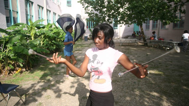 LE Rabouin HS Cheerleader and Band Practice
