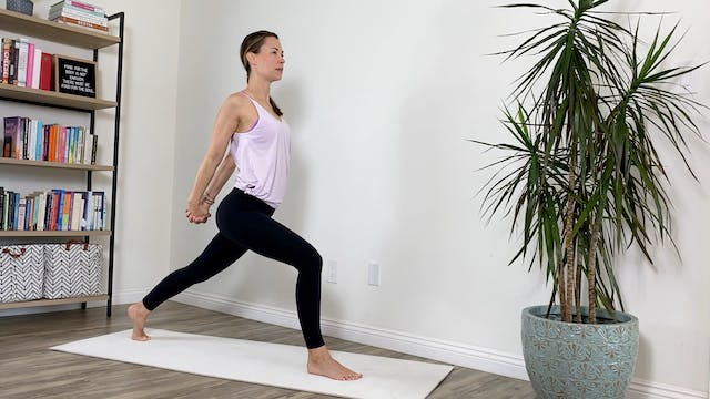 26-minute Pilates-ish Practice: Lunges with Keary