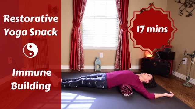 Gentle Restorative Yoga Snack for Immune System Boost