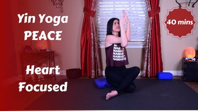 Yin Yoga Peace | Minimal Cues | Heart...