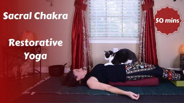 Sacral Chakra Restorative Yoga with Affirmation
