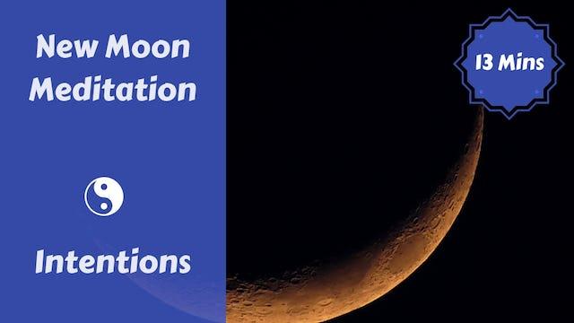 New Moon Meditation + Journaling | Intentions