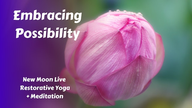 Embracing Possibility | New Moon Restorative Yoga
