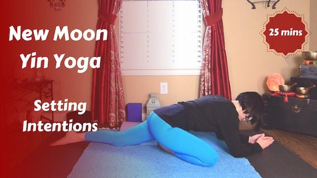 New Moon Lunar Yin Yoga   Setting Intentions