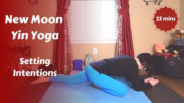 New Moon Lunar Yin Yoga | Setting Int...