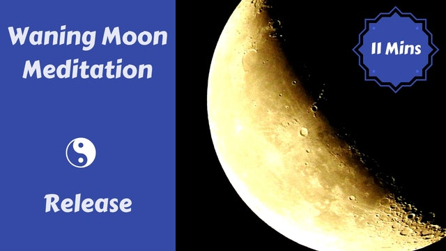 Waning Moon Meditation + Journaling | Release
