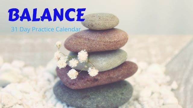 BALANCE | 31 Day Practice Calendar Oct '20
