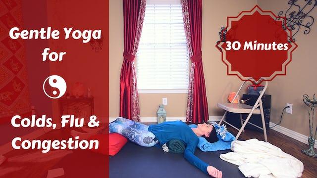 Gentle Restorative Yoga for Colds & Flu