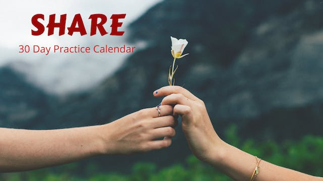 SHARE | 30 Day Practice Calendar | Nov. '20