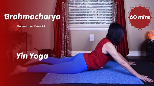 {Y}integration Yin Yoga   Brahmacharya   Moderation