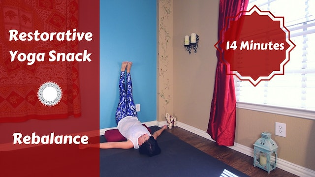 Restorative Yoga Snack for Electronics Back Relief
