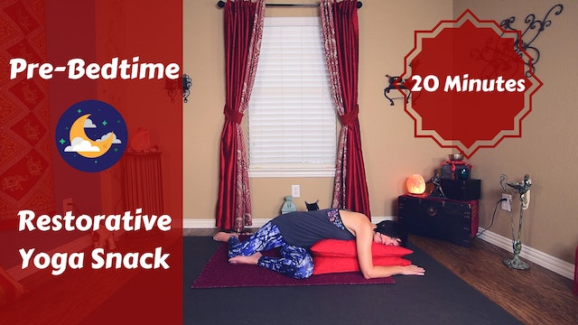 Restorative Yoga Snack for a Good Night's Rest