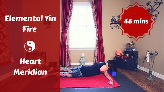 Elemental Yin Yoga Fire | Heart Meridian | Summer