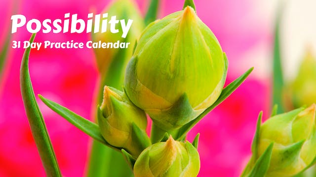 POSSIBILITY | 31 Day Practice Calendar | Mar '21