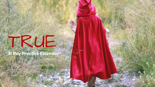 TRUE | 31 Day Practice Calendar | Oct '19