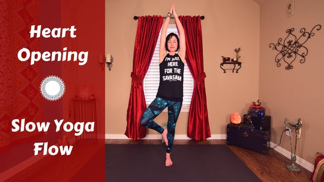 Heart Opening Yoga Flow for Chest, Up...
