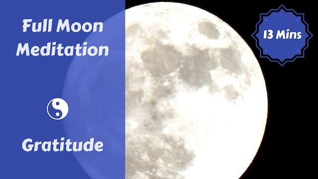 Full Moon Meditation + Journaling | Gratitude