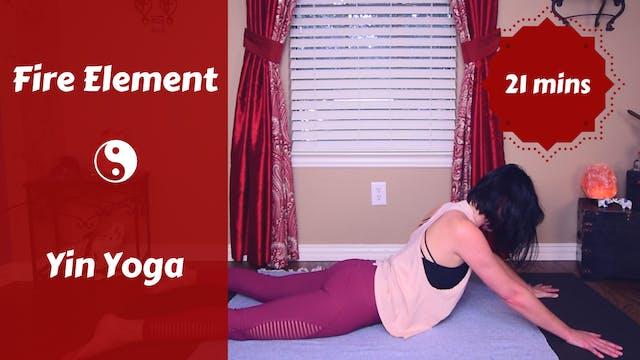 Fire Element Yin Yoga Snack