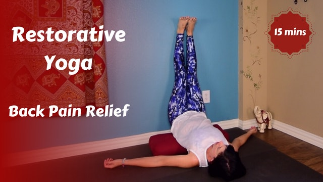 Restorative Yoga Snack for Back Pain Relief