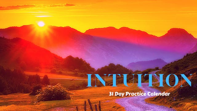 INTUITION | 31 Day Practice Calendar | Oct. '21