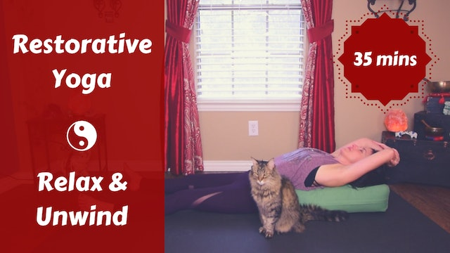 Restorative Yoga to Relax & Unwind | Evening Transition
