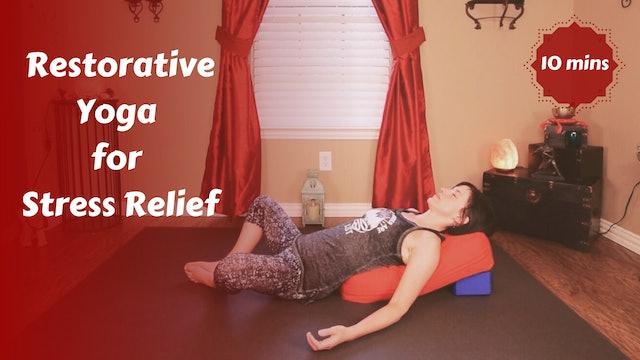 Restorative Yoga Snack for Stress & Tension