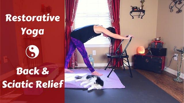Gentle Restorative Yoga for Lower Back Pain & Sciatica