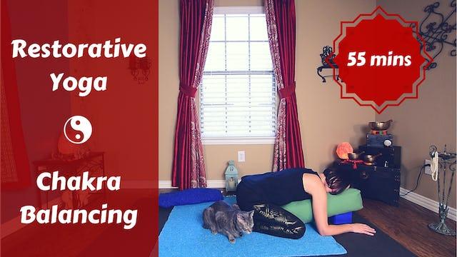 Gentle Restorative Yoga for Chakra Balancing