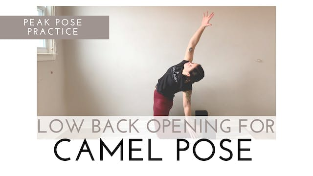 Low Back Opening for Camel Pose | Pea...