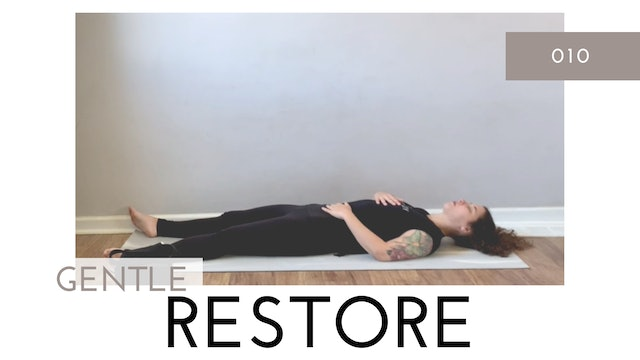 Gentle Restore 010   Super Slow Flow for Side Body, Low Back, and Hips